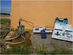 Mesures in-situ de paramètres physico-chimiques (température, conductivité, pH, potentiel Redox, concentration en O2 dissous et % de saturation)