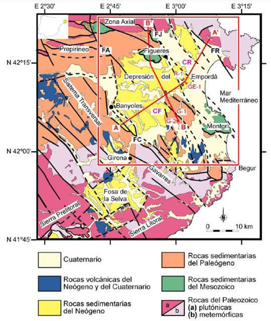 Contexte géologique du bassin versant de l'Empordà