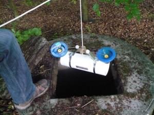Prélèvement d'eau souterraine dans un puits fermier