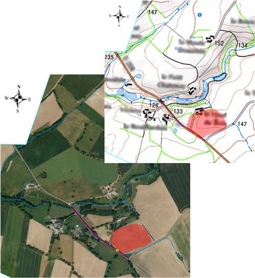 Localisation d'une parcelle à risque d'érosion et de transferts de sol